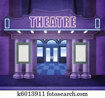 Outside theatre