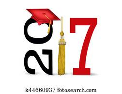 red graduation cap for 2017