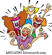 Women having fun and laughing