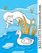 Clipart Eis Fuchs K21304865 Suche Clip Art Illustration