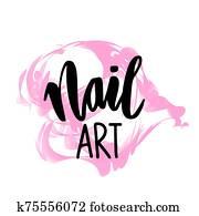 nagel, kunst, hand, gezeichnet, logo, design, template.