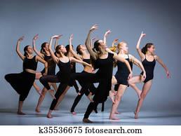 dass, gesellschaft, von, modernes, ballettt?nzer