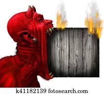 Devil Head Sign