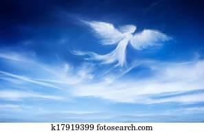 engelchen, in, dass, himmel