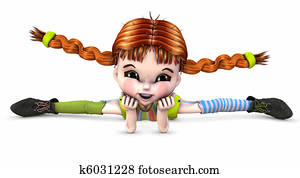 Pigtails Clipart And Stock Illustrations 958 Pigtails Vector Eps