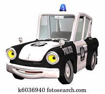 police car toon