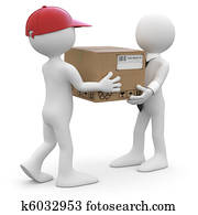 Worker delivering a package