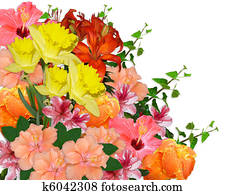 Easter Spring flowers bouquet