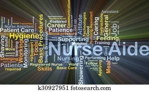 Nurse aide background concept glowing