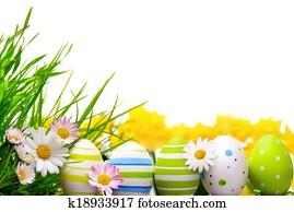 Easter eggs arrangement
