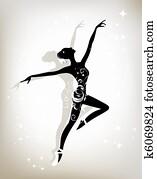 Ballet dancer for your design