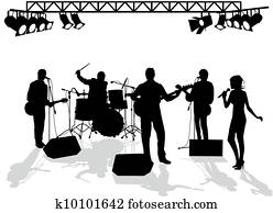 Band on stage