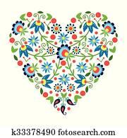 polish folk heart