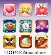 satz, heiligenbilder, für, app, kaufmannsladen, und, google, spielen, to, computerspiele, auf, unterschiedliche, themen