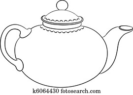 teapot,, kontur