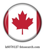 canada button flag round shape