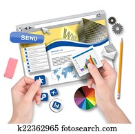 Creating Website Template with Graphic Designer