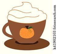 kürbis, latte