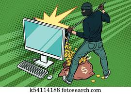 Online hacker steals dollar money from computer