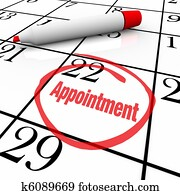 Calendar - Appointment Day Circled for Reminder