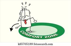 go out his comfort zone