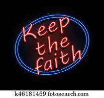 Keep the faith sign.