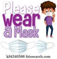 Please wear a mask banner