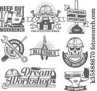 repair workshop logos