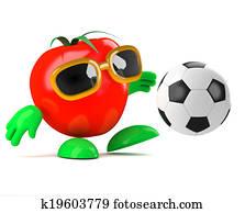 3d Tomato soccer