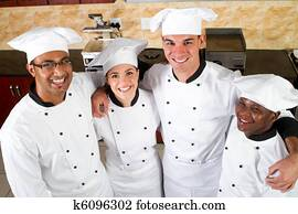 group of professional chefs