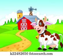 Cow House Clipart Illustrations 2038 Clip Art Vector EPS