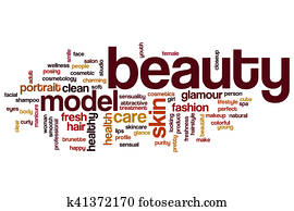 Beauty word cloud