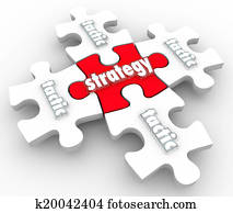 Strategy Tactics Plan Implementation Execution Puzzle Pieces