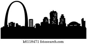 Cartoon St. Louis Skyline