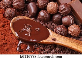 Group of chocolate