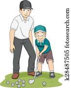 Kid Boy Golf Coach