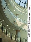 Modern architecture, interior mall