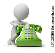 3d, klein, leute, -, rufen, per, telefon