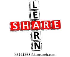 3D Learn Share Crossword