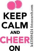 behalten, gelassen, und, beifallsruf, auf, cheerleading