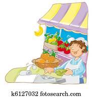 grocery market,