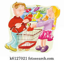 supermarket, shopping cart,