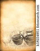 Vintage background of the old menu