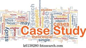 Case study background concept