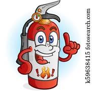 Fire Extinguisher Cartoon Character