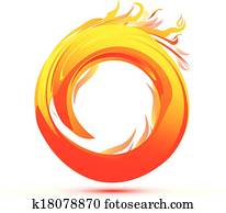 Flames and Fire abstract logo