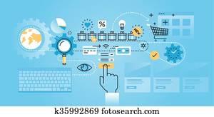 Online shopping procedure