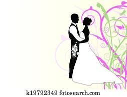 bride and groom with swirl