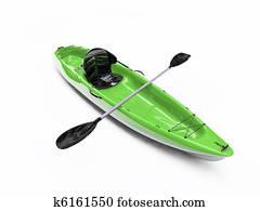 kayak isolated on white background