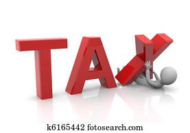 Taxpayer under heavy tax burden